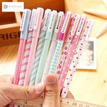 10 pcs/lot Color Gel Pen Kawaii Stationery Korean Flower Canetas Escolar... - $8.24