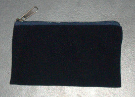 Judaica Tzedakah Tzdakah Charity Velvet Pouch Pocket Wallet Blue Silver Embroid  image 2