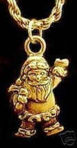 NICE New Gold Plated Santa Clause Pendant Charm Christmas - $20.86