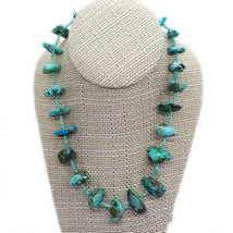 Vintage Large Natural Turquoise Nugget Necklace, Natural Matrix - $139.00
