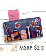 NEW Kate Spade Scenic Route NYC Zip-Around Continental Leather Wallet #pwru7989 - $199.00
