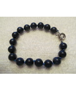 DARK BLUE LAPIS BRACELET, 8mm, 8 inch, New - $10.00