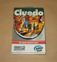 Cluedo Travel - Clue Classic Detective Game - Parker Brothers Games To Go Hasbro - $12.50