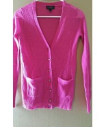 J.Crew button front cardigan sweater pink itali... - $16.99