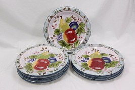 "Heritage Mint Black Forest Fruits Dinner Plates 10.5"" Set of 8 - $88.19"