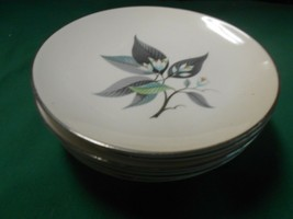 "Beautiful HOMER LAUGHLIN ""Rhythm"" Set 7 BREAD-SALAD-DESSERT Plates 6"" - $34.24"