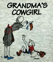 T-Shirt GRANDMA'S COWGIRL Western Boot Granddaughter Grandmother Stick Horse - $6.64 - $10.44