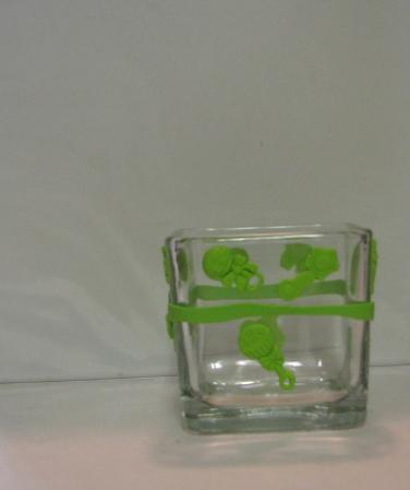 Green Baby Polymer Clay Changing Table Cube 2