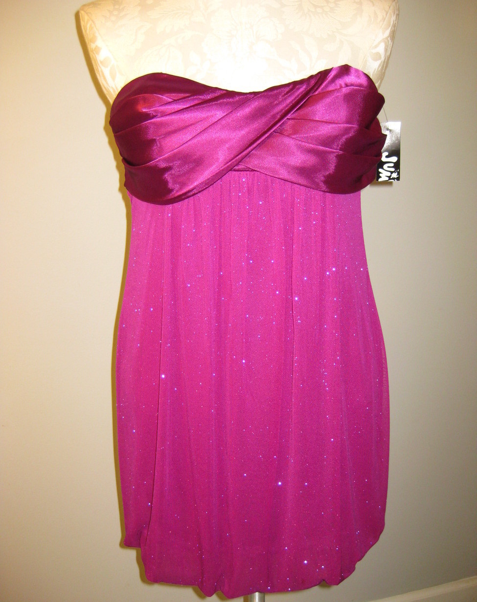 Jump Strapless Glitter Bubble Dress Size 3/4