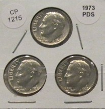 1973 P D and S Roosevelt Dimes CP1215 - $5.75