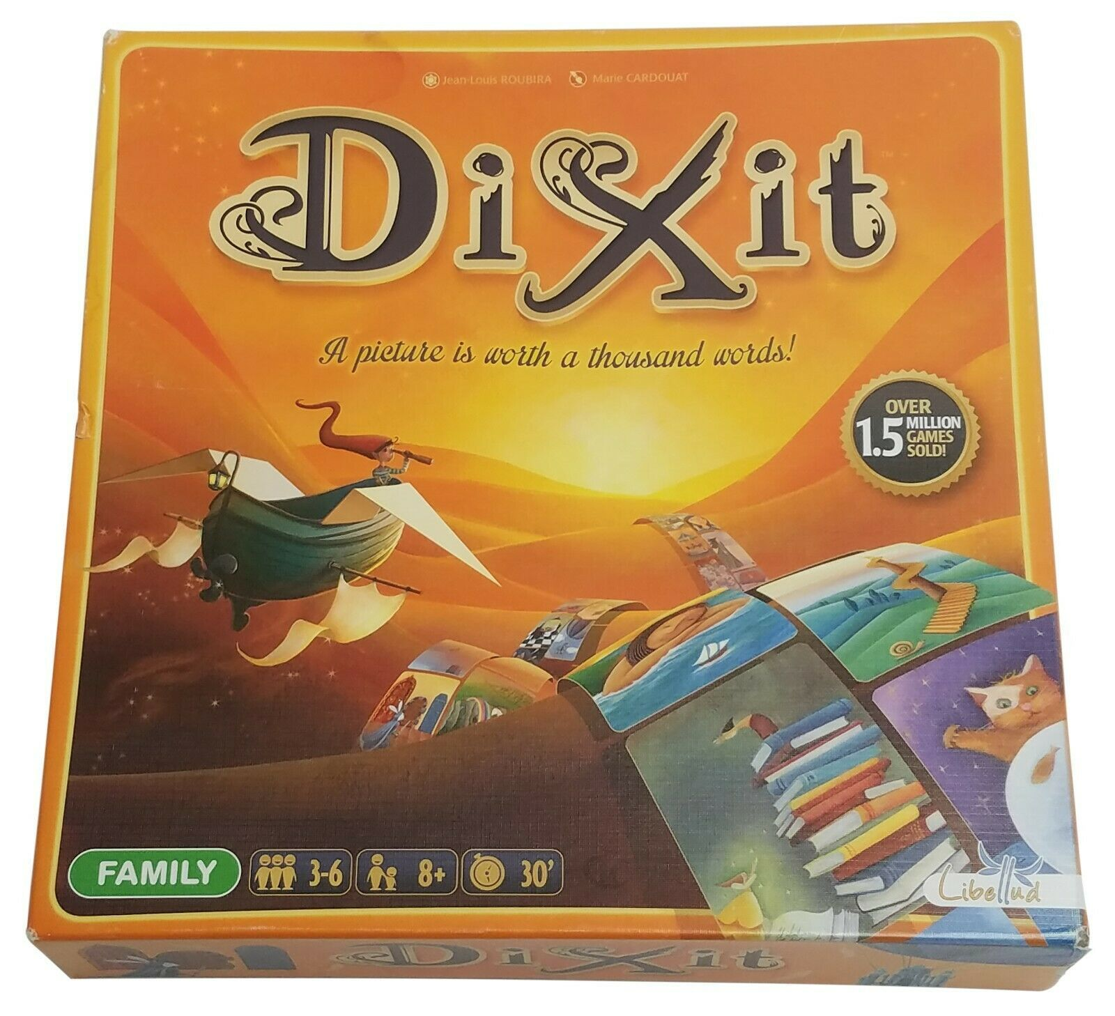 Asmodee Dixit Family Board Card Game, Unused w/ Damaged Box - $24.95