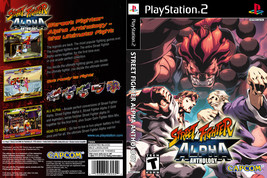 Street Fighter Alpha Anthology CUSTOM PS2 CASE (NO GAME!!!!!!!!) - $5.64