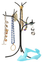 WROUGHT IRON JEWELRY TREE STAND - Necklace Earing Bracelet Ring Rack AMI... - $34.97