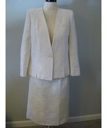 Classic White/Cream Ladies Business Suit Size 12 - $38.00