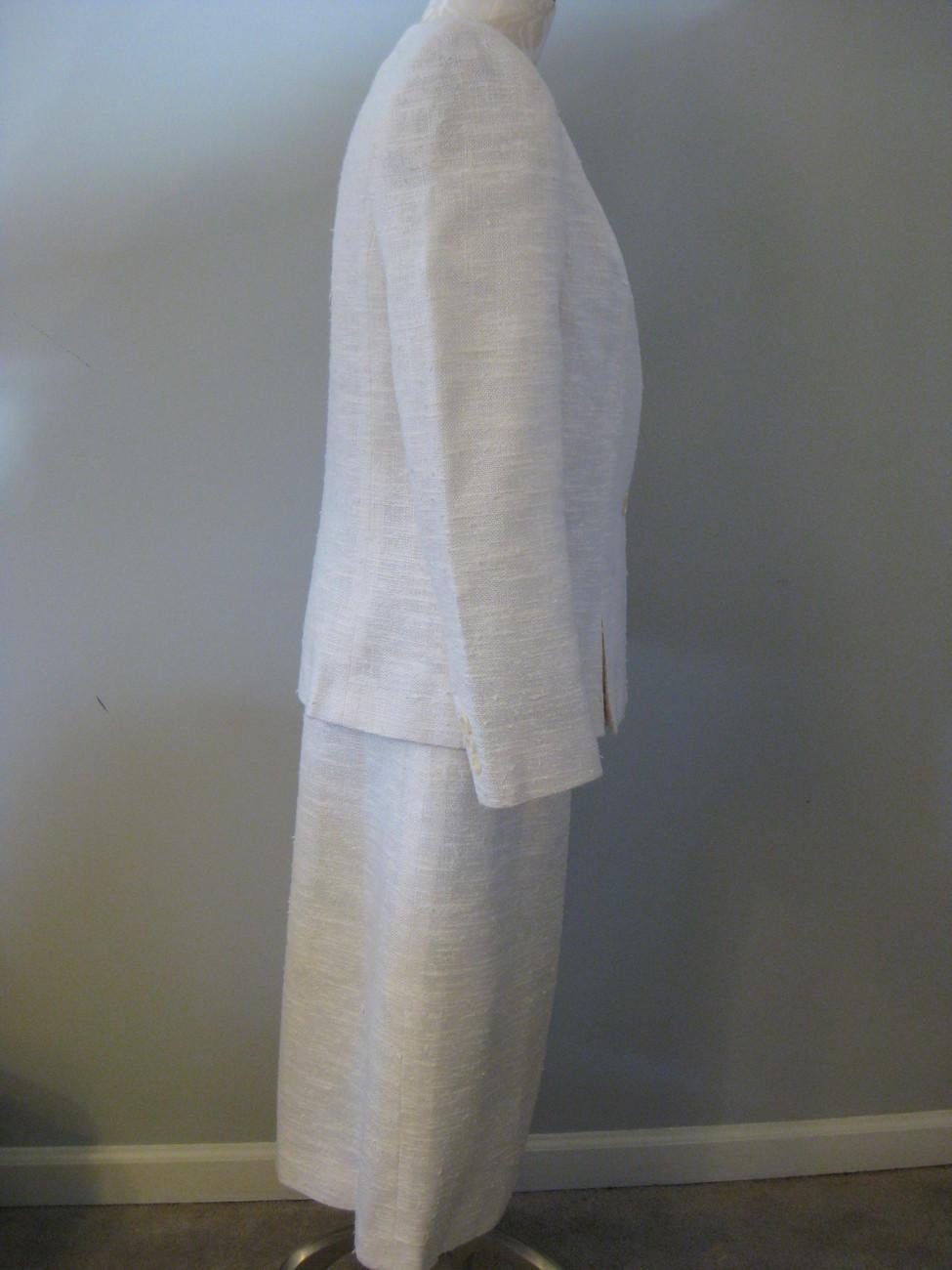 Classic White/Cream Ladies Business Suit Size 12