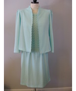 Pablo Collection Mint Green Ladies Suit Size 12-14 - $36.00