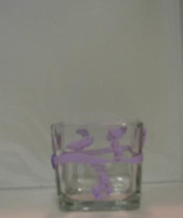 Lavendar Baby Polymer Clay Changing Table Cube