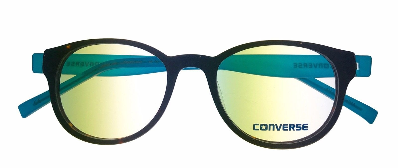 Converse Ophthalmic Mens Semi Round Tortoise Blue Plastic Frame Q014