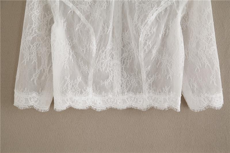 Bridesmaid lace tops crop 3