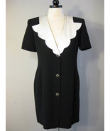 Black And Ivory Crepe Dress Size 8 NWT - $48.00