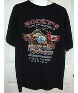Harley Davidson T Shirt Eagle with Canadian Flag  - $18.00
