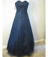 Navy Blue Formal Gown By Cassandra Stone Size 2... - $92.00