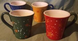 StoneLite Set of 4 Star Sky Pattern Two Tone Mugs in 2 Designs Heavyweig... - $16.82