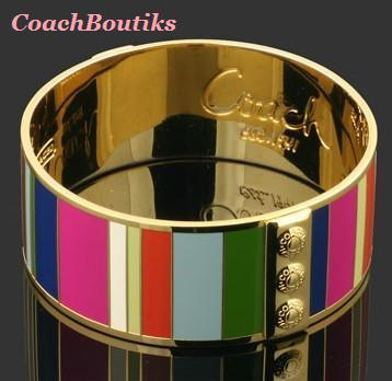 Primary image for COACH Legacy Variegated Bangle NIP 94287