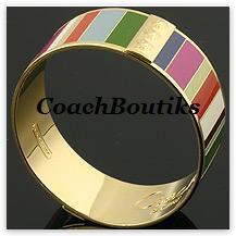 COACH Legacy Variegated Bangle NIP 94287