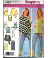 Uncut Size 6 8 10 12 In K Maternity Pants Top Poncho Simplicity 4584 Pattern - £7.05 GBP