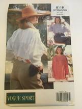 Vogue Sport Sewing Pattern 8118 Womens Loose Blouse Casual Sz 20 22 24 U... - $9.99
