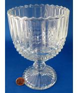 Westmoreland Glass Goblet English Hobnail Crystal Large Candle Holder 1950s - $16.00