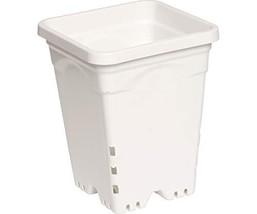 "Hydrofarm 6"" x 6"" Square White Pot - 50 Pack - $81.77"