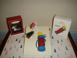 Hallmark 2019 Limited Ed Golfing With Woodstock & 96 A Tree For Snoopy Ornaments image 4