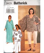 Uncut Size 22W 24W 26W Caftan Top Pants Robe Butterick 3829 Pattern Plus - $6.99