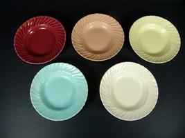 5 Berry Bowls Franciscan Coronado Swirl Sauce Fruit Dessert Multi Color ... - $27.71