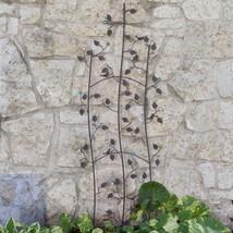 """Bronze Finish Metal Jewel Birds Vines 62"""" Garden Trellis Outdoor Gardeni... - $58.90"""