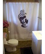 Printed Shower Curtain Buddha head bust Buddhism Buddhist way religion p... - $90.00