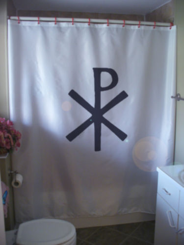 Primary image for Shower Curtain chi rho labarum Jesus Christ Christian