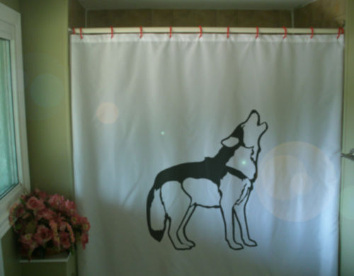 Primary image for Shower Curtain wolf howl call pack animal canis lupus