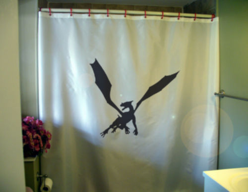 Primary image for Shower Curtain dragon wing drake wyvern mythical draco