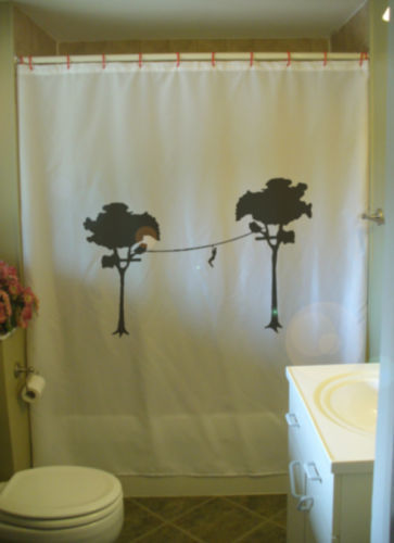 Primary image for Shower Curtain zipline adventure tree forest jungle zip
