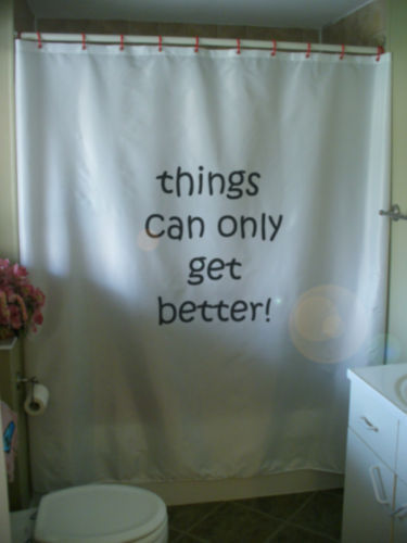 Primary image for Shower Curtain things can only get better positive hope
