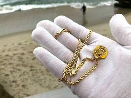 PERU 1 ESCUDO 1736 PENDANT NECKLACE PIRATE GOLD COINS JEWELRY TREASURE DOUBLOON image 6