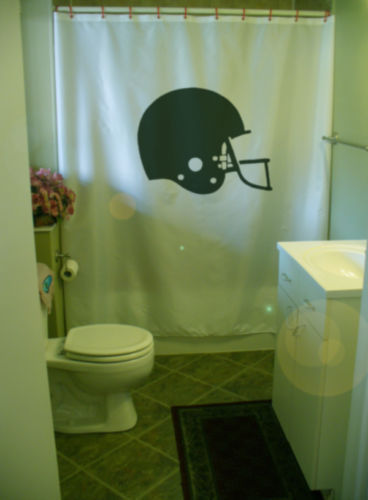 Primary image for Shower Curtain football helmet American season guard