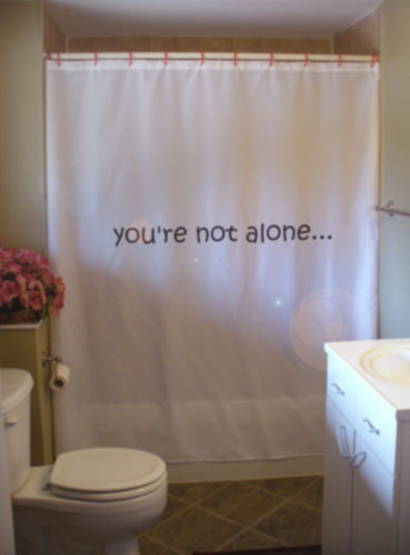Primary image for Shower Curtain you are not alone positive hope love