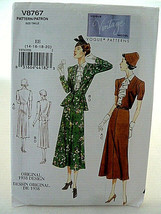 Vogue Pattern 8767 Lady's dress Vintage 1930s design Size 14 16 18 20 UNCUT - $11.08