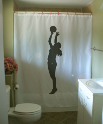 Primary image for Shower Curtain basketball jump sport game point shoot
