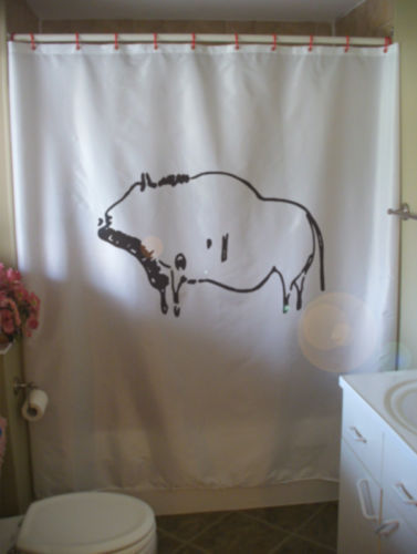 Primary image for Shower Curtain prehistoric bison cave paint early art