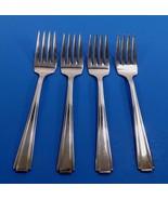 "Vintage N.S.CO National Silver Co ""NTS59"" 4 Silverplate Salad Forks-2 Av... - $11.99"